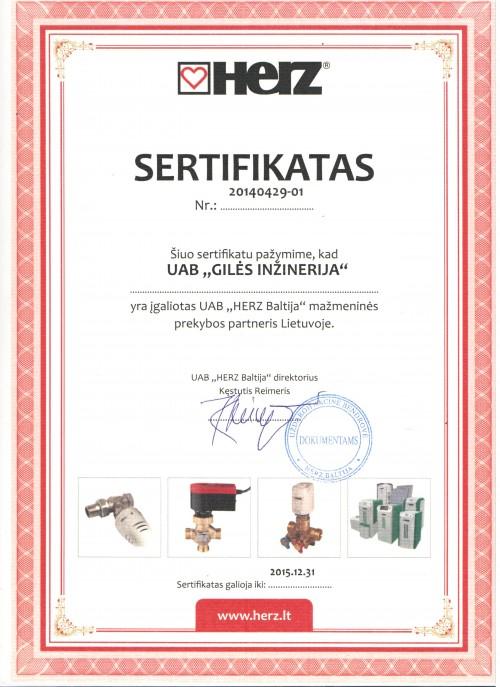 herz sertifikatas giles inzinerija