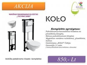 Akcijos  WC Pakabinamas  - KOLO Giles Inzinerija