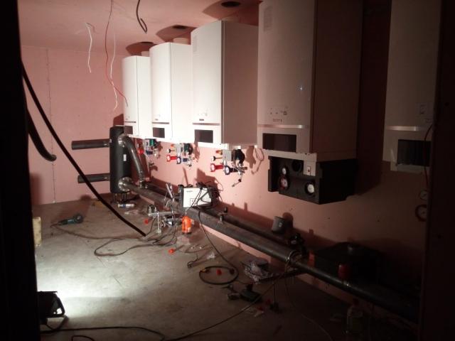 100 kW Buderus katilų montavimas