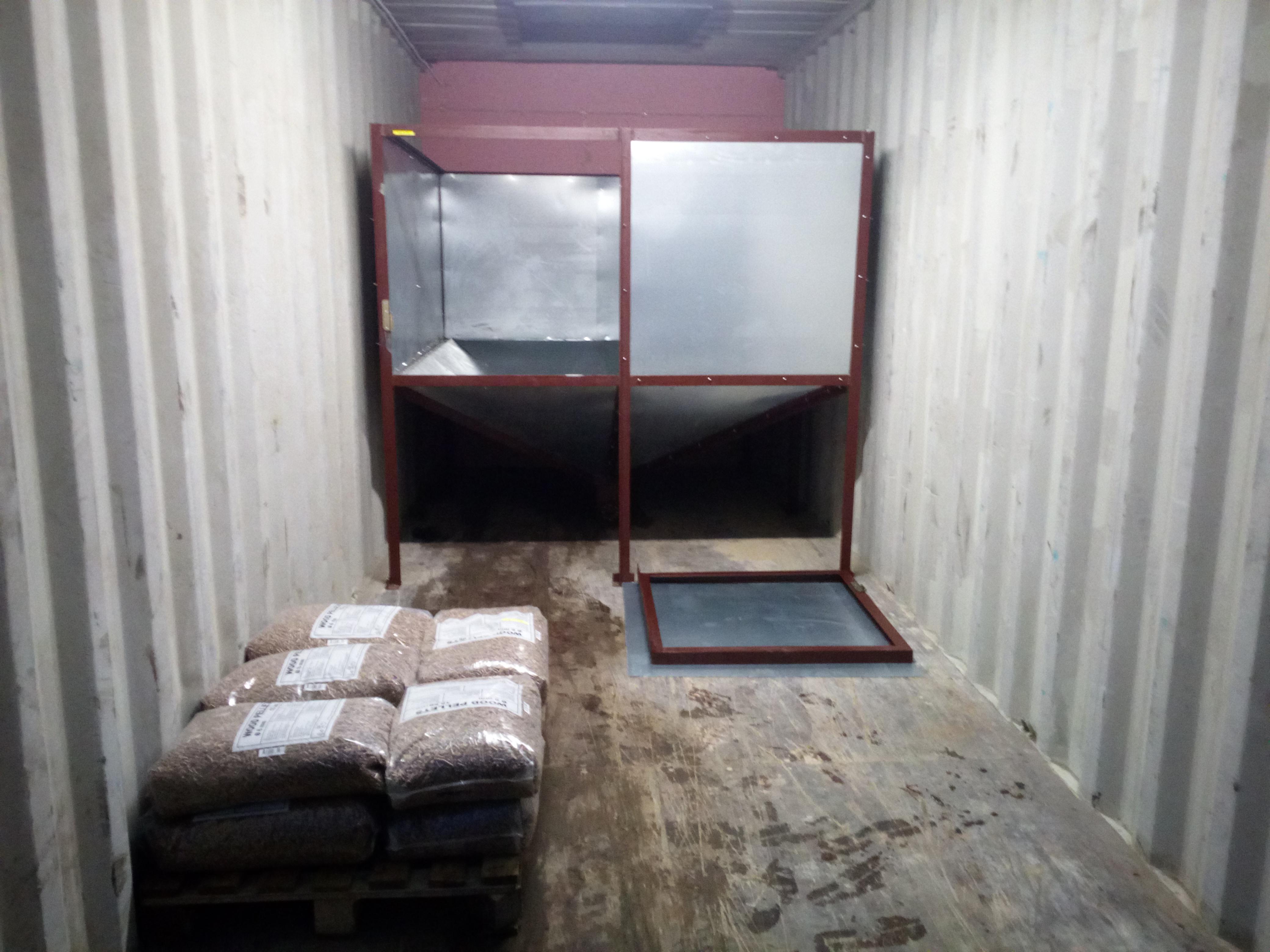 Granulių konteineris