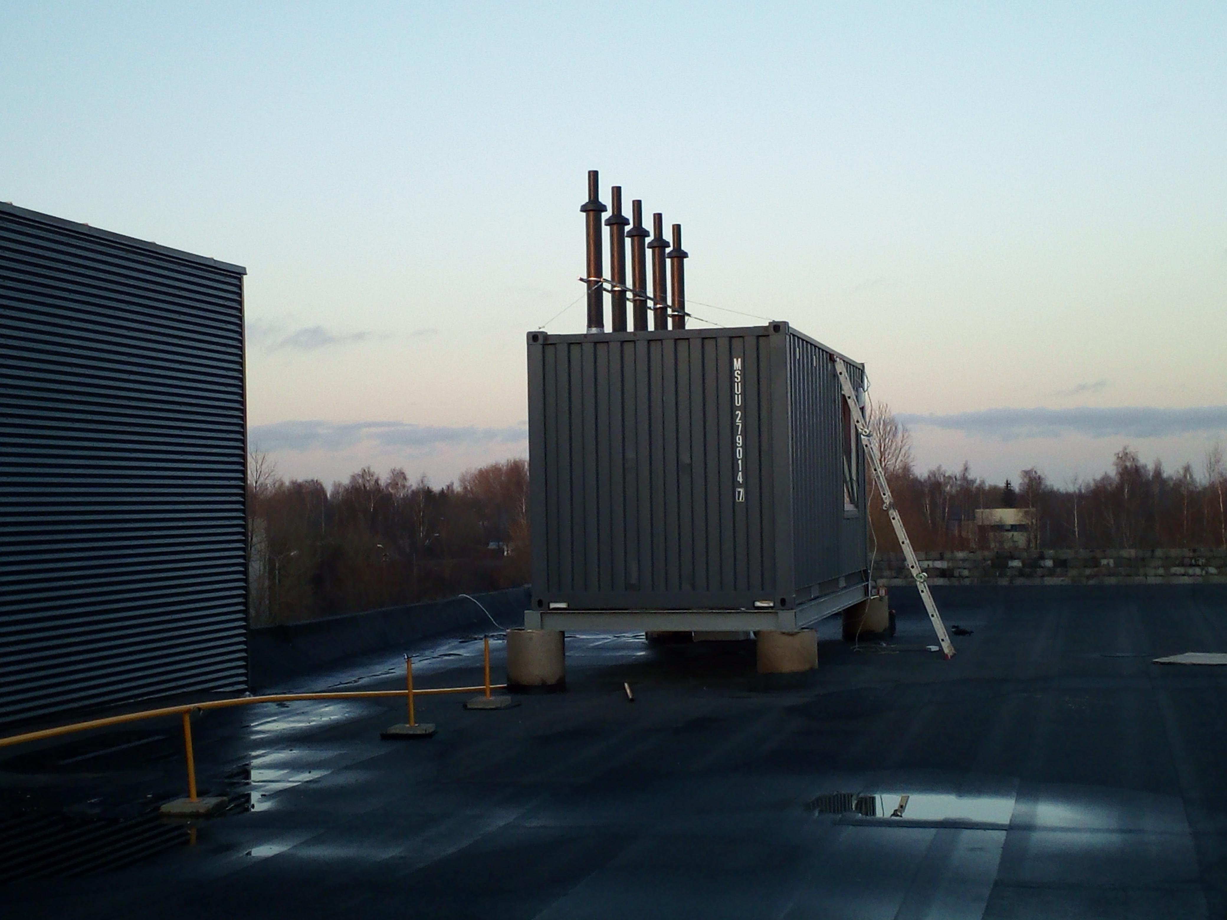 500kW konteinerinė dujinė katilinė