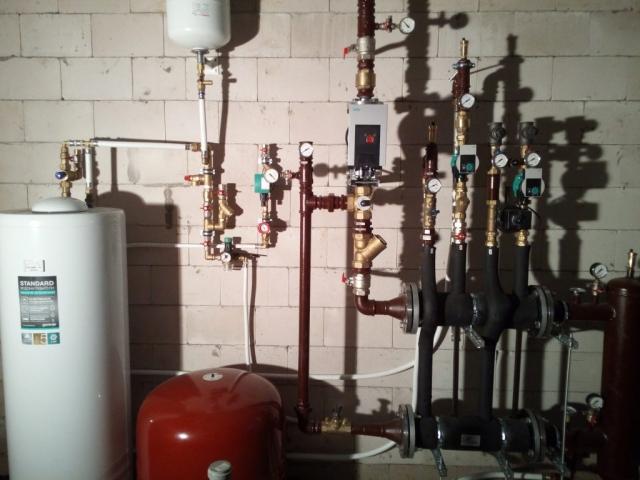 200 kW dujinės katilinės šilumos mazgas